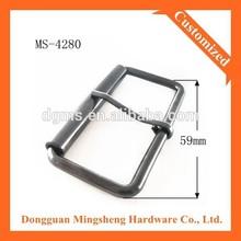 59mm width rectangle roll gun metal custom personalized belt buckle for men