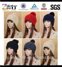 2015 New Custom Women's Man's Winter Baggy Beanie Knit Crochet Ski Hat Slouch Cap Snow Hats and Caps