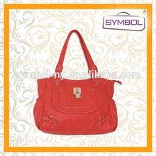 Fashionable discount pu handbag lady bag