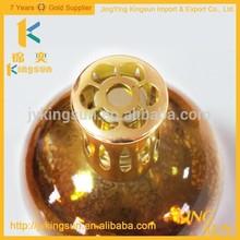 empty fancy shining aromatherapy oil glass bottle