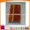 De madera de color de aluminio perfil de carril para puertas correderas y ventanas