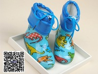 crystal kids warm rain boots with fur lining pvc baby shoes rain