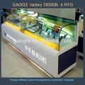 venta caliente 2015 mordern diseño de vidrio mdf gabinete de mostrar el caso