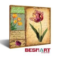 Decroative modern tulip canvas painting / tulip flower painting printing / tulip flower painting Canvas Wall Art