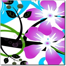 large waterproof 3 pieces canvas picture room decoration flower