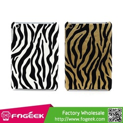 for iPad Mini Cool Zebra Strip Pattern Leather Coated Protective Plastic Case