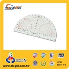 Stationery drafting plastic PVC transparent protractor