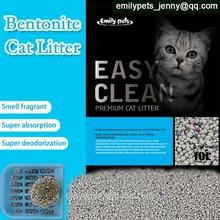 2015 Best clean bentonite pet litter eco-friendly