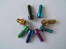 high quality titanium bolt titanium anodizing