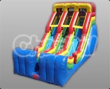 Commercial PVC 18' Double Lane Slide