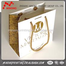 Top sale printed custom paper shopping bag