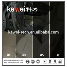 Black car window film sticker,different color car window tint with different car