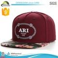 personalizado de cuero parche insignia sombreros snapback venta al por mayor