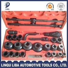 3/4 inch Sq Drive Chrome Vanadium wrench set 26pcs auto Hand Tools Set of hand tool boxes