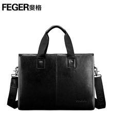 Premium Quality Genuine Leather Men's Handbags Men Business Briefcase