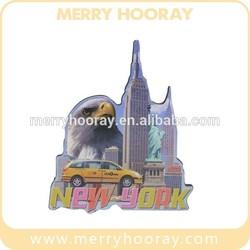 Customized Promotional Wood Fridge Magnet For NewYork