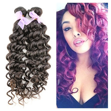 Real vigin brazilian extensions deep wave human hair for braiding