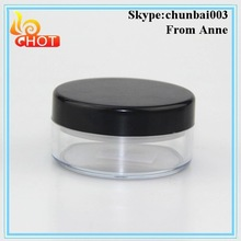 Hot sale Clear Round plastic with sifter loose powder jars 5g 10g 20g 30g