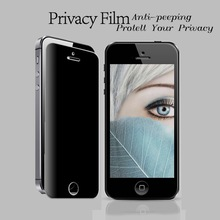 Privacy anti spy screen protector,anti-spy tempered glass screen protector,privacy screen protector for iphone 5