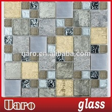 Mix style, Glass mosaic,Marble and Metal Mosaic pattern for Kitchen