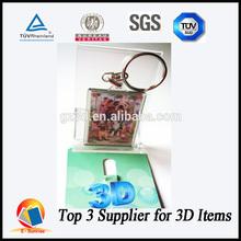 3d key chain/plastic 3d key chain/3d key chains manufacturer