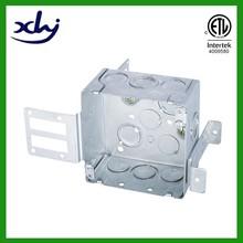 "cETL listing wraparound bracket 2 1/8"" deep square 4"" electrical metal switch box"
