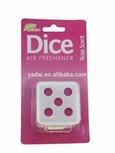 Rose scent dice shape gel air freshener Car/Home