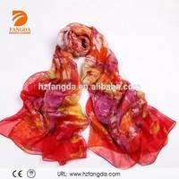 2015 silk chiffon long scarf shawl for lady