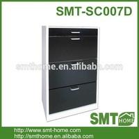3 door 1 drawer melamine MDF wooden shoe racks for sale