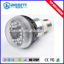 Factory direct china 720P HD wifi hidden camera light bulb BS-W12A