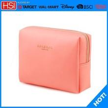 Metal zipper cute pink acrylic makeup storage box ,trolley makeup case