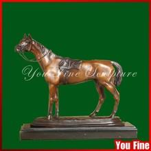 Garden Classic Antique Bronze Natural Horse Statue For Sale