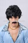 Hot sale fashion men's short synthetic hair black wigs