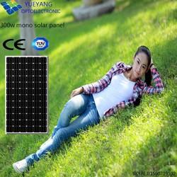 lowest price and MOQ 5w to 300w mono crystalline solar panel