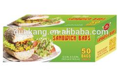 Resealable plastic sandwich Bags