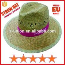 Cheap custom straw hats,promotion panama straw hats,good quality straw hats (SU-PA257)