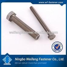 china high quality stainless steel bolt DIN933/DIN931/DIN976/ASTM B18.8.1.1 HEX BOLTS manufacturer&supplier&exporter
