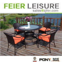 High quality garden rattan dinning table and chairs