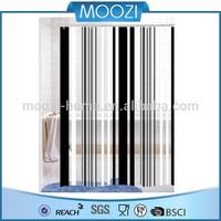 black and white modern stripe plastic vinly PVC shower curtain