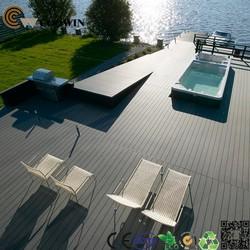 Outdoor cafe decking floor