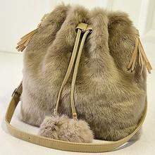 E1025 new china products for sale korean fashion lady fur bag