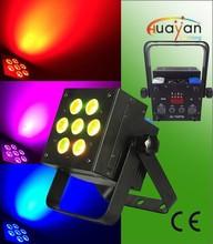 High power flat led par 7*12W RGBWA+UV 6in1 led thin pannel par light/led flat par light