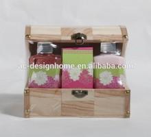 4 pcs set de baño w/caja de madera