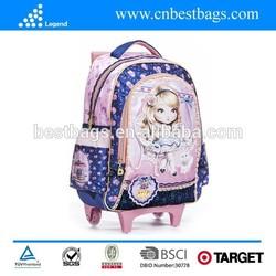 New design custom high quality kids school trolley backpack