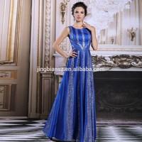 2015 latest design in stock arabic popular shinning sequin sleeveless prom dresses #OE31191
