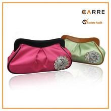 China style snap closure satin clutch bag