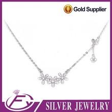 Fancy aaa grade zircon stone sterling silver 925 costume jewellery