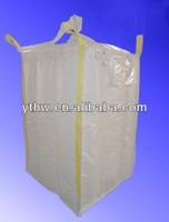 PP white 4-Panel baffle bulk bag with double filler cord