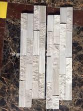White natural cultural slate Z-shape stone