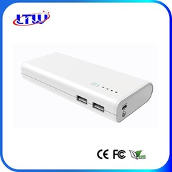 LT-C18 12000mah/10000mah fliash light mobile battery charger power external portable power bank